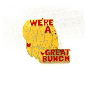 Vintage We're a Great Bunch Banana Pin Yellow